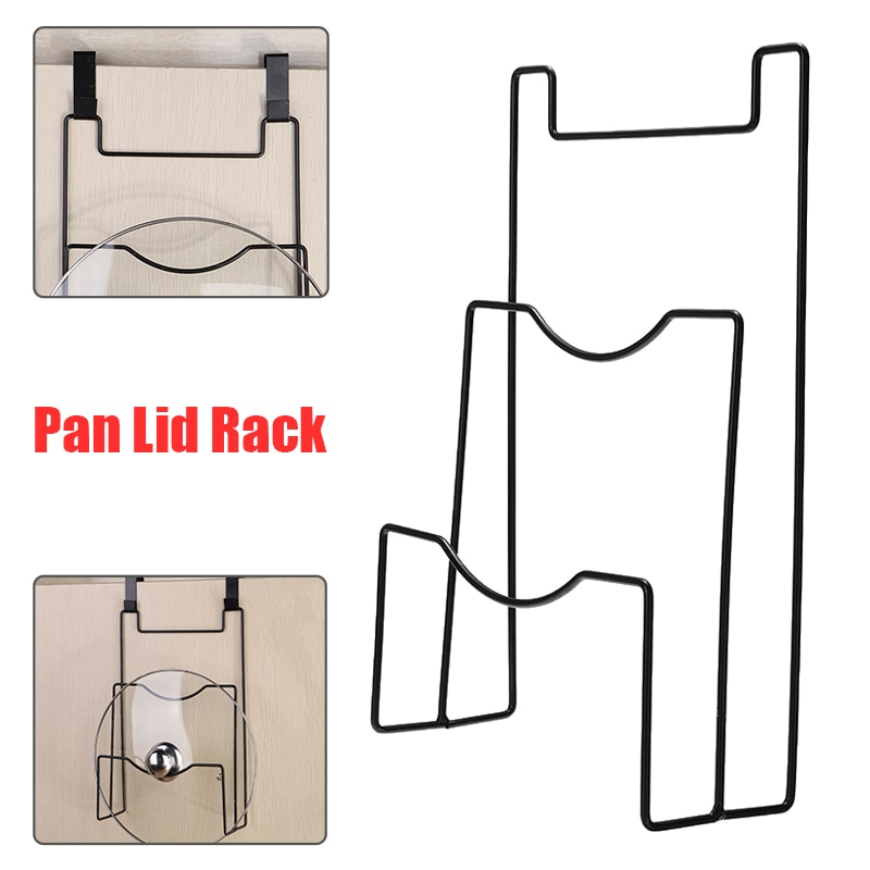 Novo 2 camada fogão pan tampa rack de ferro pote cobrir panela armazenamento rack parede pendurado prateleira titular para cozinha panelas organizador