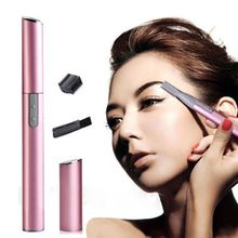 Men Women's Lady Face Hair Electric Eyebrow Trimmer Shaver Remover Razor Set INS Stainless Low Noise