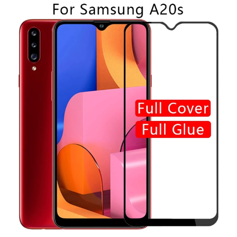 2Pcs Full Cover Tempered glass for samsung A20s galaxy A 20S A20 S Safety Screen Protector on for Samsung a 20 s 20s glass film