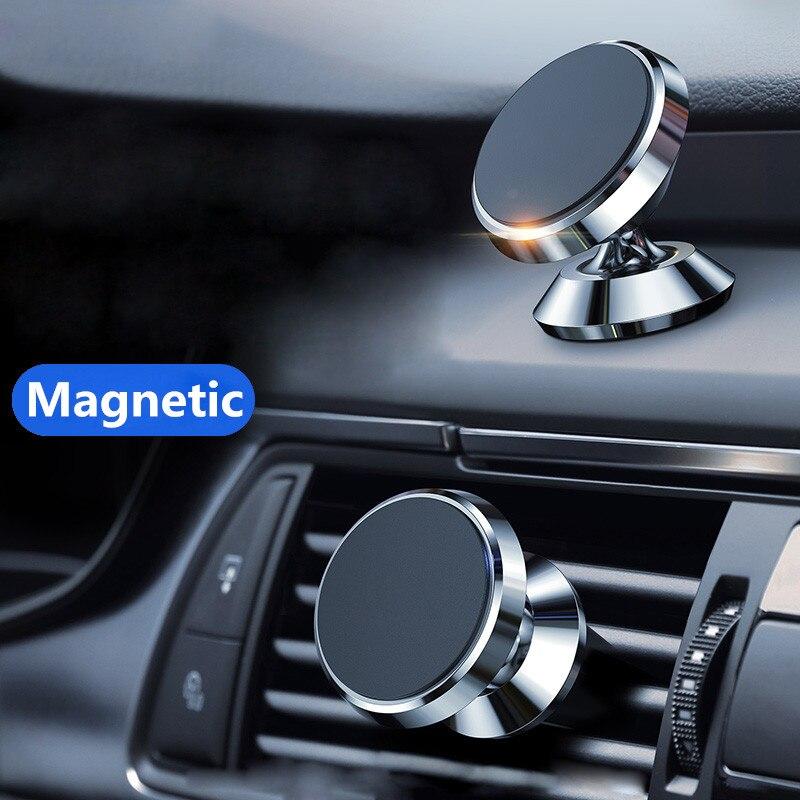 Soporte magnético para teléfono de coche, nuevo soporte de lujo para teléfono, para IPhone, para Huawei Lite, imán, orificio de aire, instalación de mango