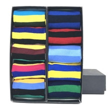 MYORED  men's socks gift popular fruit patterns combed cotton crew socks for men Causal Novelty Gifts Socks