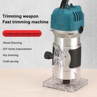 220110v electric hand trimmer wood router portable electric trimmers wood milling engraving slotting trimming carving machine