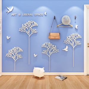 WS168 Creative ins style art space sticker living room bedroom sofa simple background wall 3d stereo wall sticker decoration