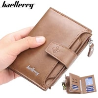 baellerry men short wallet zipper hasp money bag for male multi card wallets vertical coin pocket small purse carteira masculina