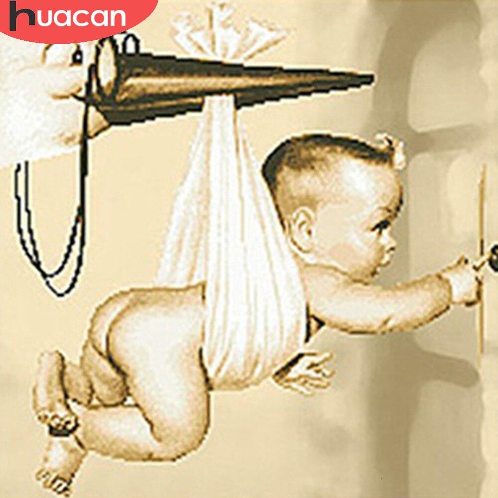 HUACAN 5D алмазная вышивка распродажа дети алмазная мозаика полная выкладка мальчик украшения для дома