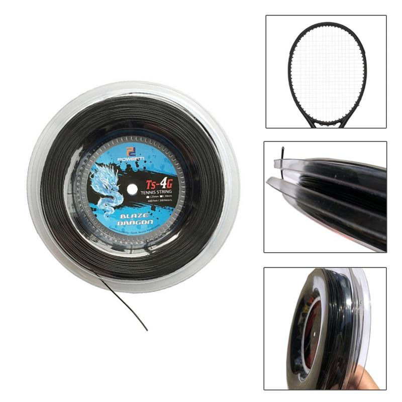 Boa Tenacidade Corda do Tênis 4G Poliéster Corda da Raquete de Badminton Corda Raquete Amarrando Ferramenta Braçadeira Voando Equipmente