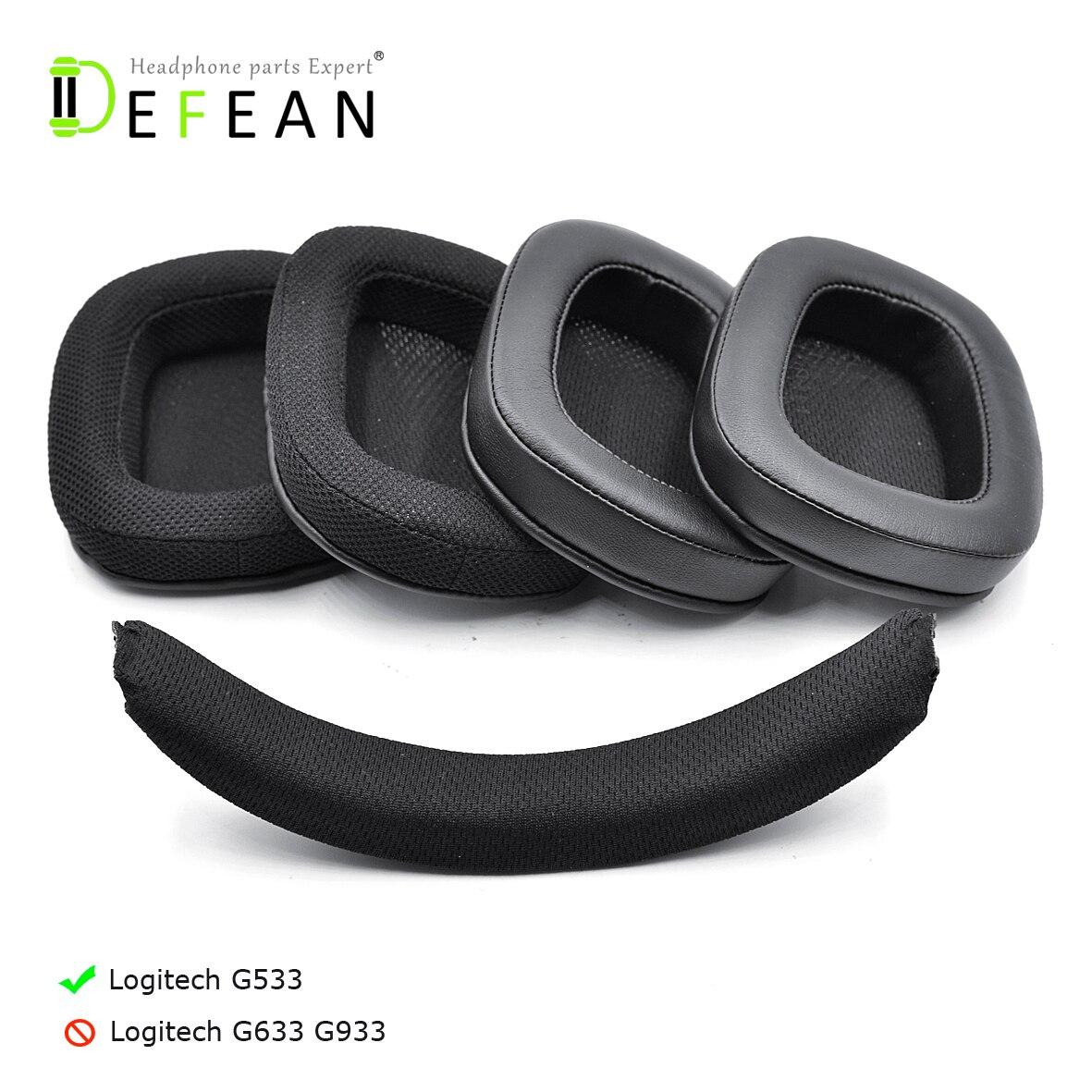 Almohadillas para la cabeza Defean G533 G 533 para auriculares Logitech G533 G 533 Artemis (no para Logitech G933 G633)