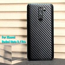 For Xiaomi Mi 9T Redmi K30 K20 Note 8 7 Pro Fashion Rear Back Cover Decal Skin 3D Carbon Fiber Protect Protective Sticker Film