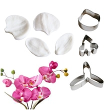 NEW 7PCS Orchid VEINER Silicone Mold Fondant Cake Decorating Tools Gumpaste Floral Petal Sugar Clay Gumpaste Flower Moulds CS392