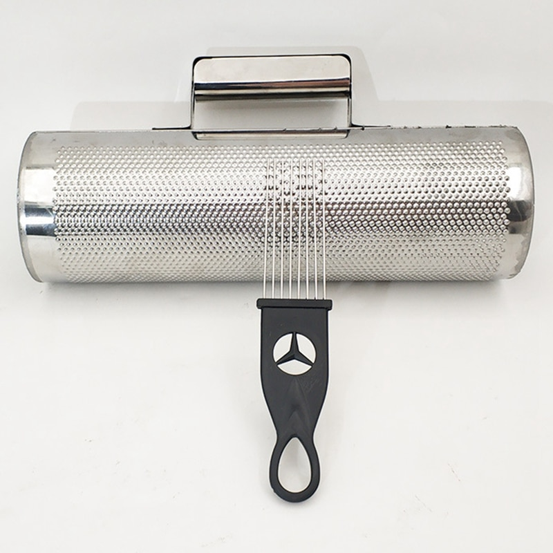 Professional Large Stainless Steel Guiro with Scraper Latin Merengue Percussion Musical Instrument 12X4 Inch Open Ends enlarge