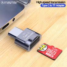 Адаптер OTG с Type C на Micro-SD TF, Смарт устройство для чтения карт памяти для Samsung, Huawei, адаптер Micro USB на Micro-SD для Xiaomi, Macbook