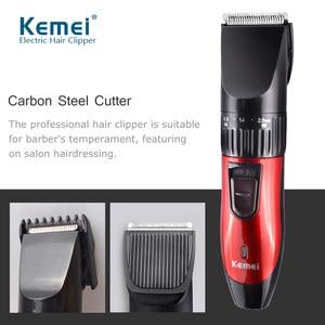 Kemei Clipper for Men Professional Electric Beard Trimmer Haircut Cutter Rechargeable Hair Clipper Hair Trimmer  BeardTrimmer 42