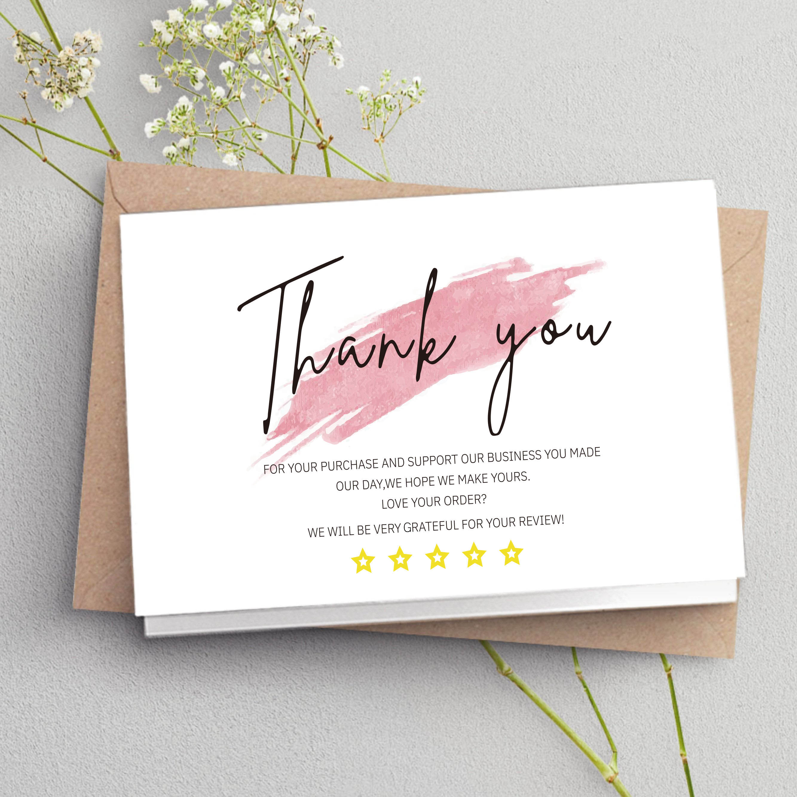 30 Pcs White Thank You Card Thank You For Your Order Card Praise Labels For Small Businesses Decor For Small Shop Gift Packet