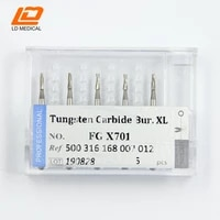 dental oral surgical burs of tungsten carbide 168012 fgx701 long diamond shank of high speed 5pcs diamond bur for dentists oral