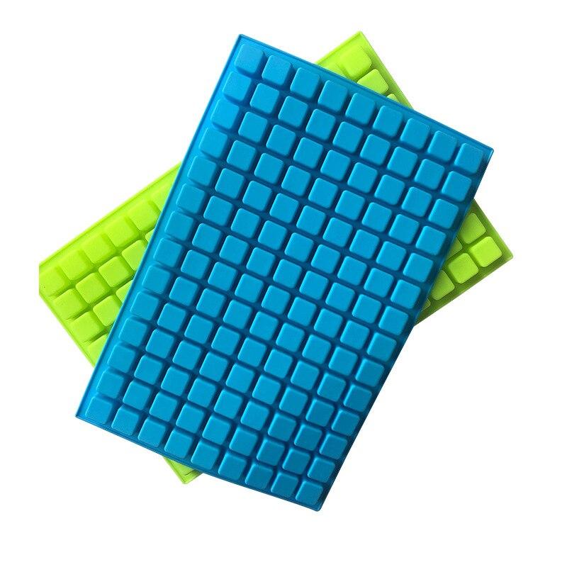126 ubytków Mini kwadratowe formy silikonowe/forma na czekoladki na gumowate galaretki trufle Ganache praliny Caramels