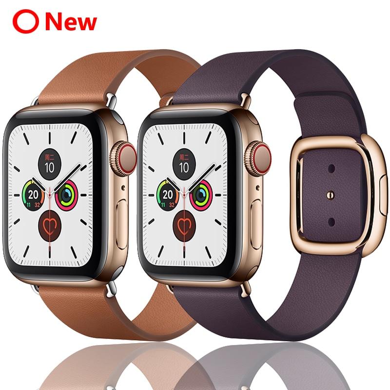רצועת עבור apple watch להקת 42mm 38mm 44mm 40mm קוראת iwatch 5 4 3 מודרני אבזם עור צמיד apple watch 4 5 אביזרים