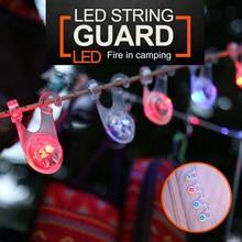 Lámpara de advertencia para acampar al aire libre, impermeable, LED, cuerda de cuerda, luces de guardia, viaje, fácil de llevar piezas portátiles
