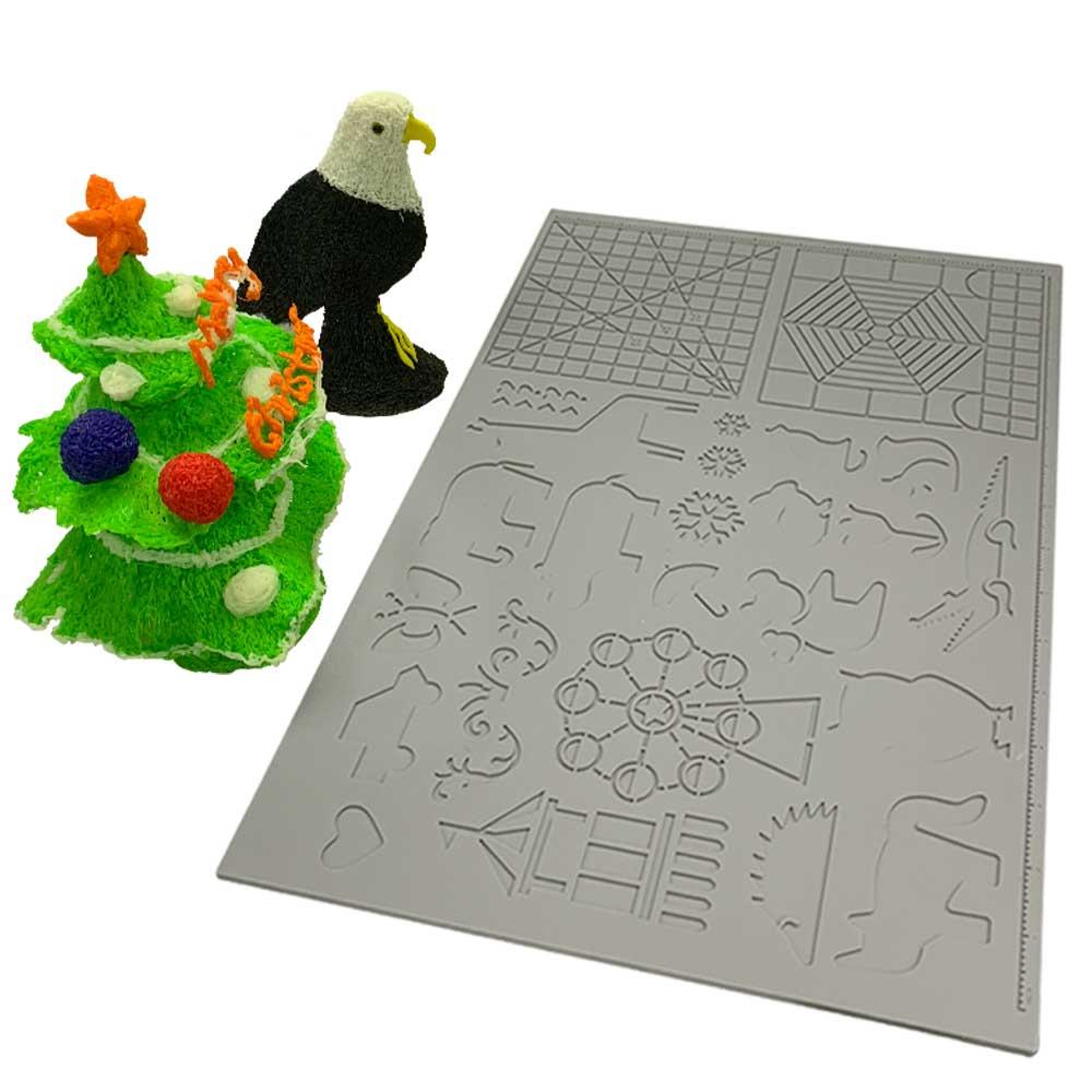Dikale 3D pluma de impresión de silicona diseño estera plantilla herramientas de dibujo almohadilla de silicona figura geométrica dibujo para niños 170x110x 2mm