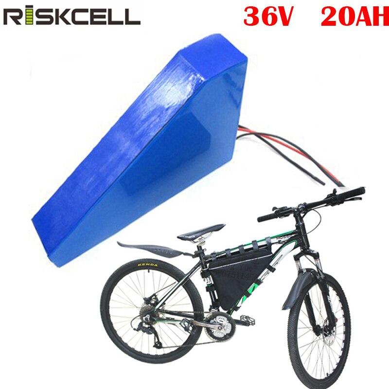 Batería de litio para bicicleta eléctrica, 36v, 20ah, 1000W, akku