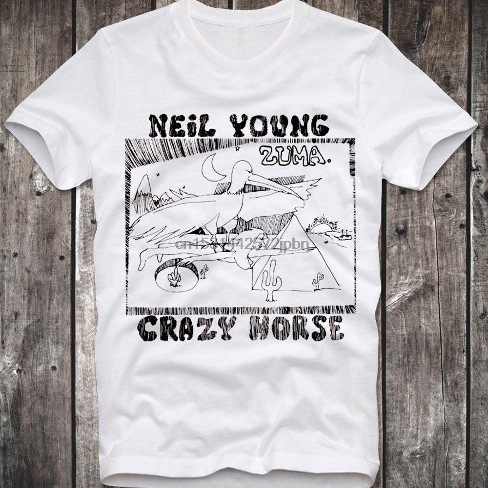 T-shirt Neil Young Crazy Horse Zuma Folk Rock Retro Vintage Hipster Unisex