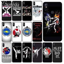 Yinuoda Kungfu Taekwondo TPU Silicone Soft black Phone Case for xiaomi mi 6  8 se note2 3 mix2 redmi 5 5plus note 4 5 5
