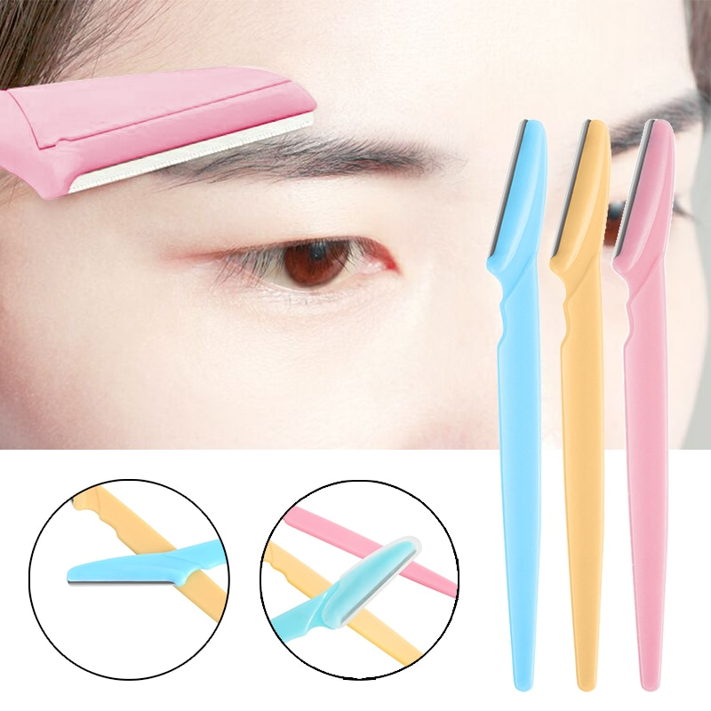 1/3Pcs Eyebrow Trimmer Blade Shaver Portable Face Razor Eye Brow Epilation Hair Removal Cutters Safe