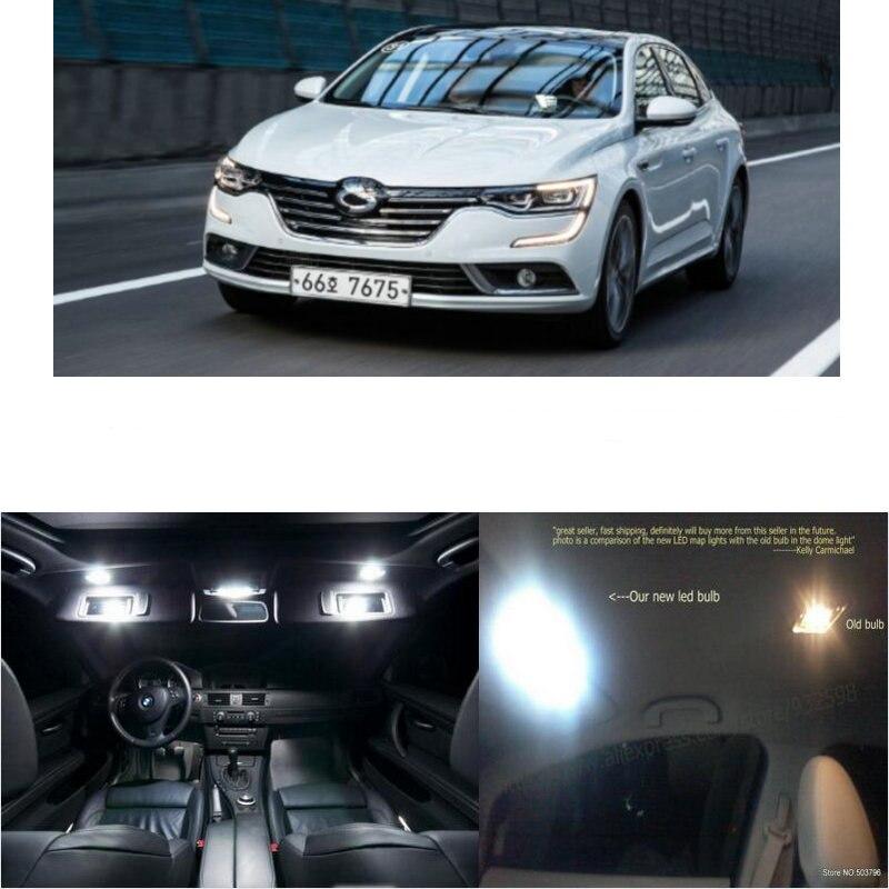 Светодиодный фонарь для салона автомобиля для Renault sm6 pe se, купол для комнаты, карта для чтения, ножная дверь, лампа без ошибок, 12 шт.