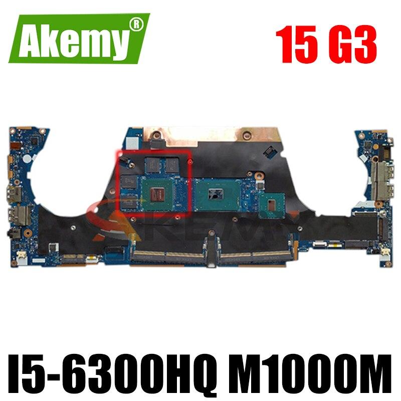 Akemy 863779-601 LA-C401P محمول لوحة رئيسية لأجهزة HP ZBook ستوديو 15 G3 لوحة النظام i5-6300HQ M1000M اختبار بالكامل