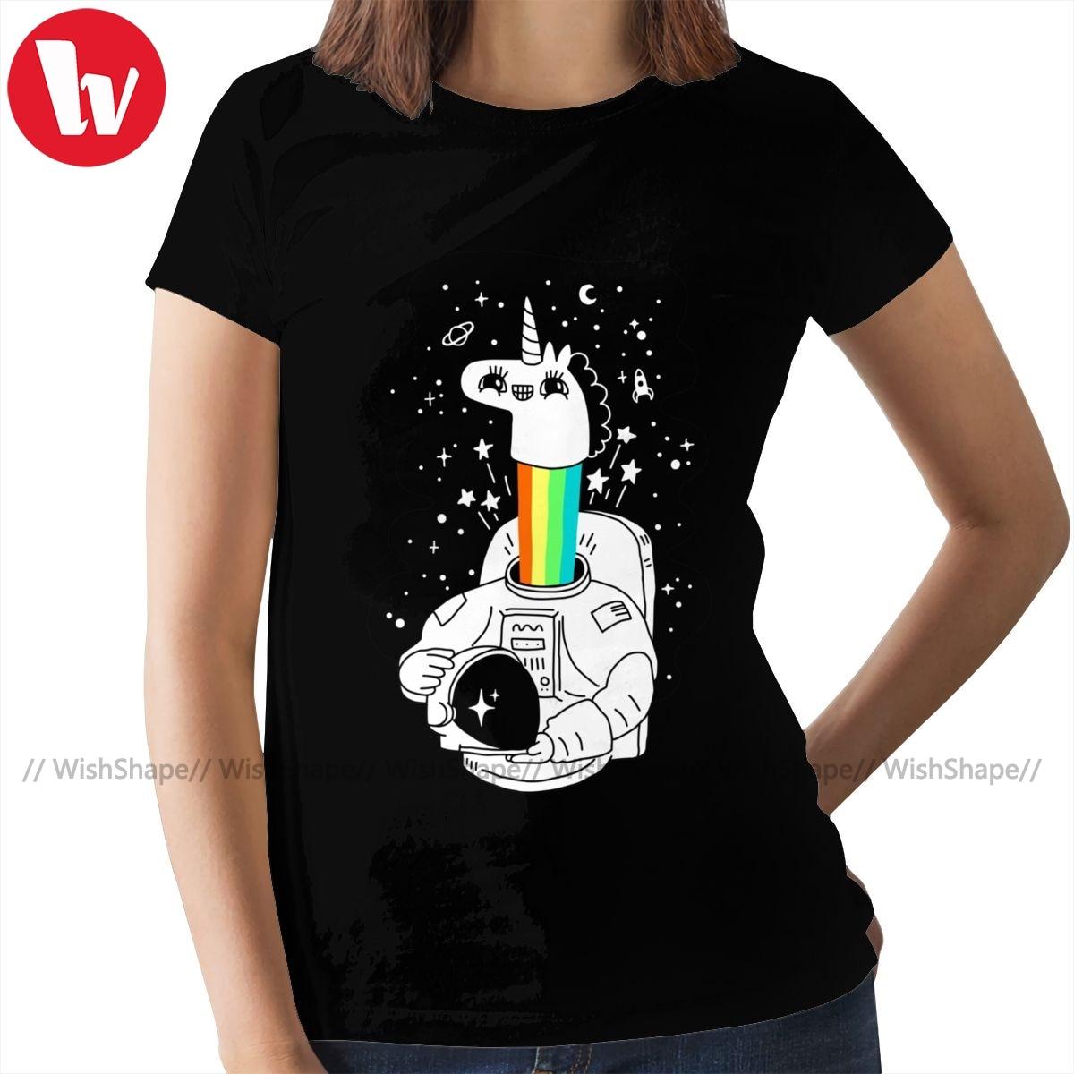 Camiseta Crazy Horse See You In Space, camiseta Simple de moda urbana para mujer, camiseta de gran tamaño para mujer