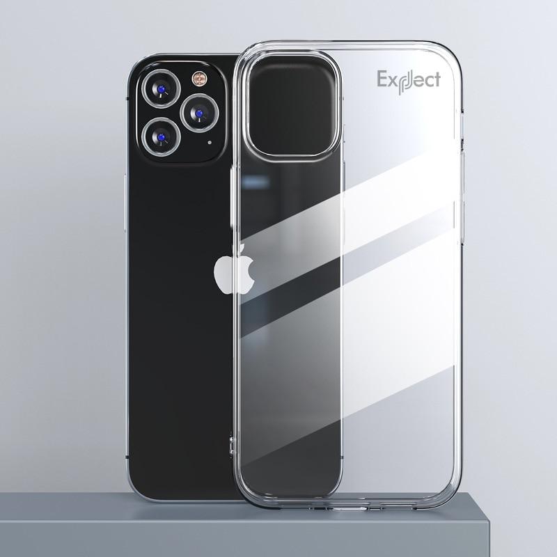 Прозрачный силиконовый чехол Exect для iPhone 12/iPhone 12 Pro