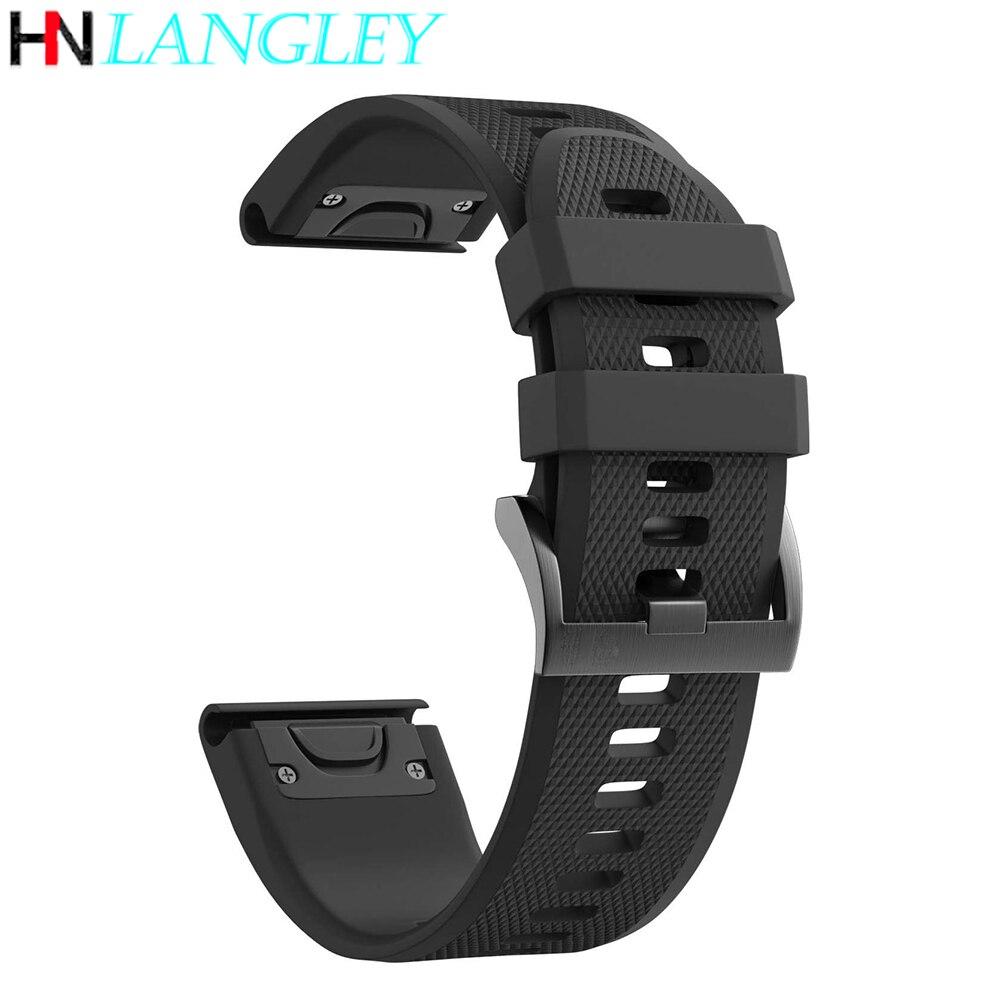 26 mm 22mm 20mm pulseiras de relógio para garmin fenix 5S 6 s 5 5 5x 6x mais pulseiras de silicone liberação rápida easyfit pulseira de pulso
