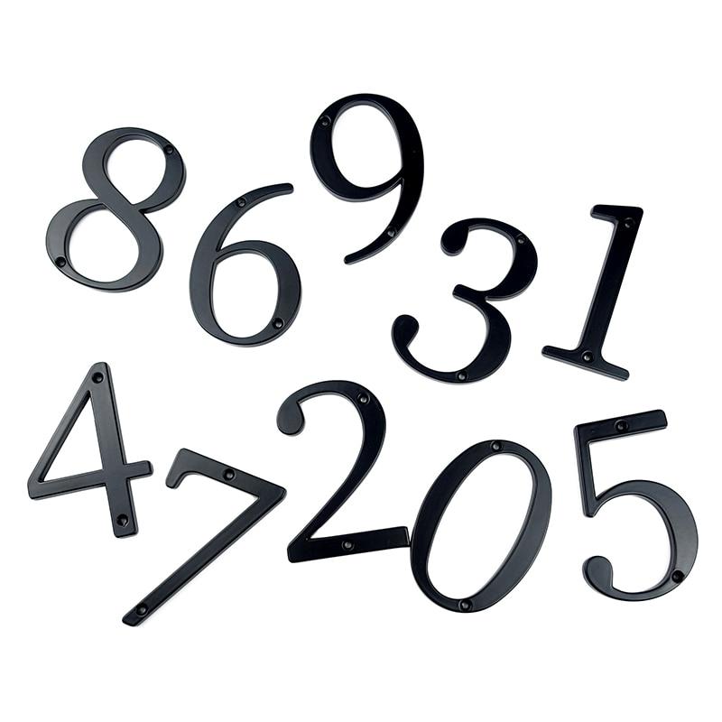 Купить с кэшбэком 10cm Big Modern House Number Door Home Address Mailbox Numbers for House Number Digital Door Outdoor Sign 4 Inch. #0-9 Black