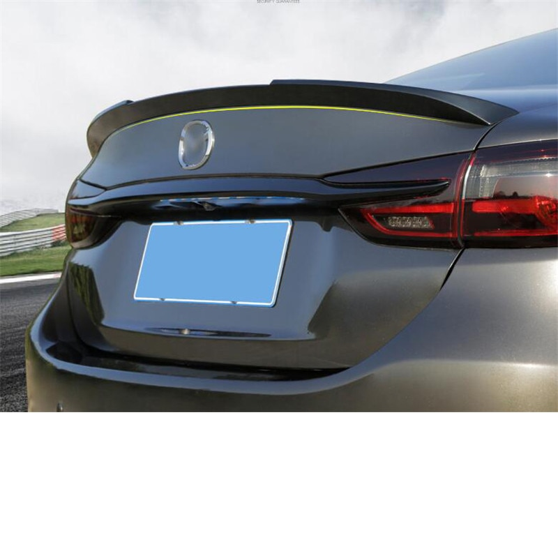 CEYUSOTFor Sports Accessory Spoiler Mazda 6 2018 2019 2020 Car Trunk Rear Wing Tail High Quality Abs