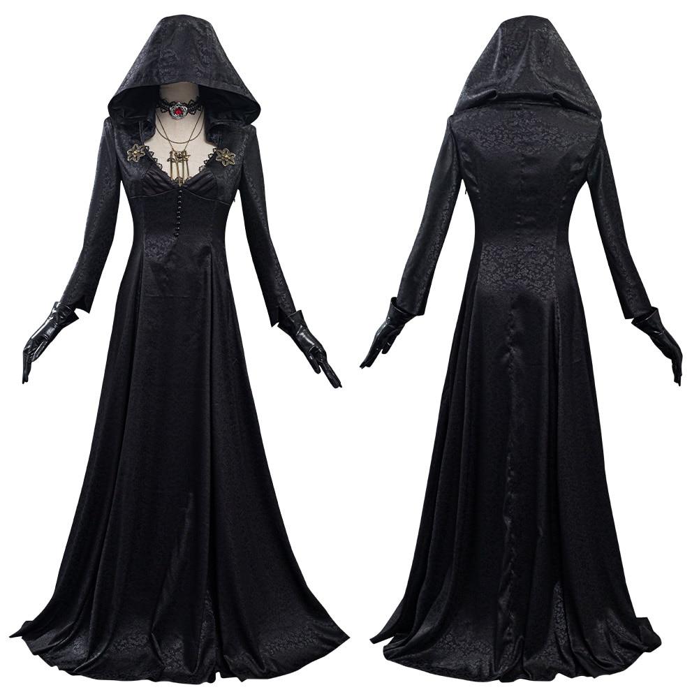 Костюм для косплея «злая деревня», женское платье вампира, наряды на Хэллоуин, карнавальный костюм