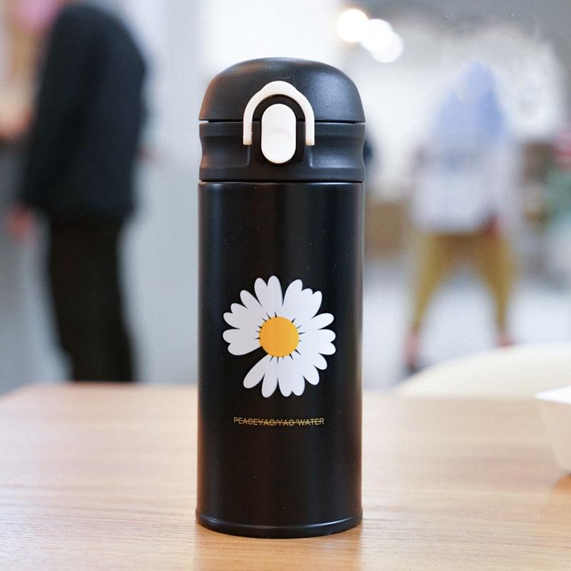 Zoobe garrafa térmica de parede dupla 350ml, copos térmicos em aço inoxidável para chá e café, fechamento hermético e com 304 ml, garrafa térmica, canecas, para viagem