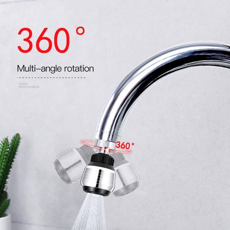 Gran oferta de adaptador de boquilla filtro para grifo giratorio, gran oferta de 360 grados, difusor de Aireador de grifo de ahorro de agua, ducha de baño, utensilios de cocina