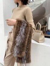 Sable vison fourrure collier vison série vison fourrure écharpe femme fourrure col hiver nouveau style à la mode et chaud fourrure écharpe taille 160*15cm