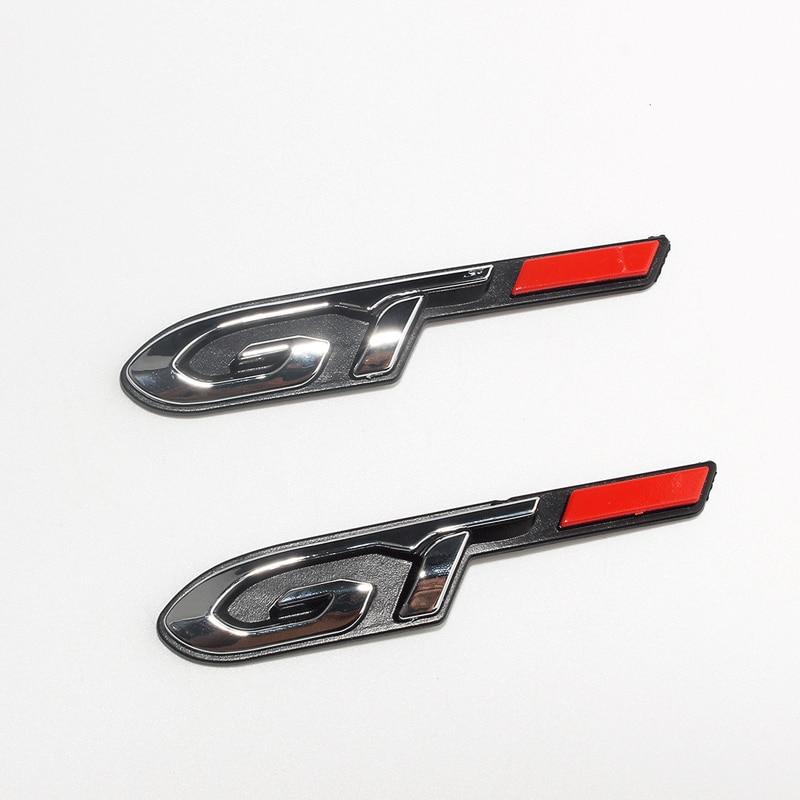 1 Pcs 3D ABS Car Tuning Atuo GT Line Emblem Sticker Letters LOGO Decals For Peugeot 206 308 GT RCZ 308 508 3008 5008