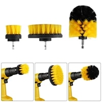 3pcsset electric drill brush kit plastic round cleaning brush for carpet glass car tires nylon brushes power scrubber drill