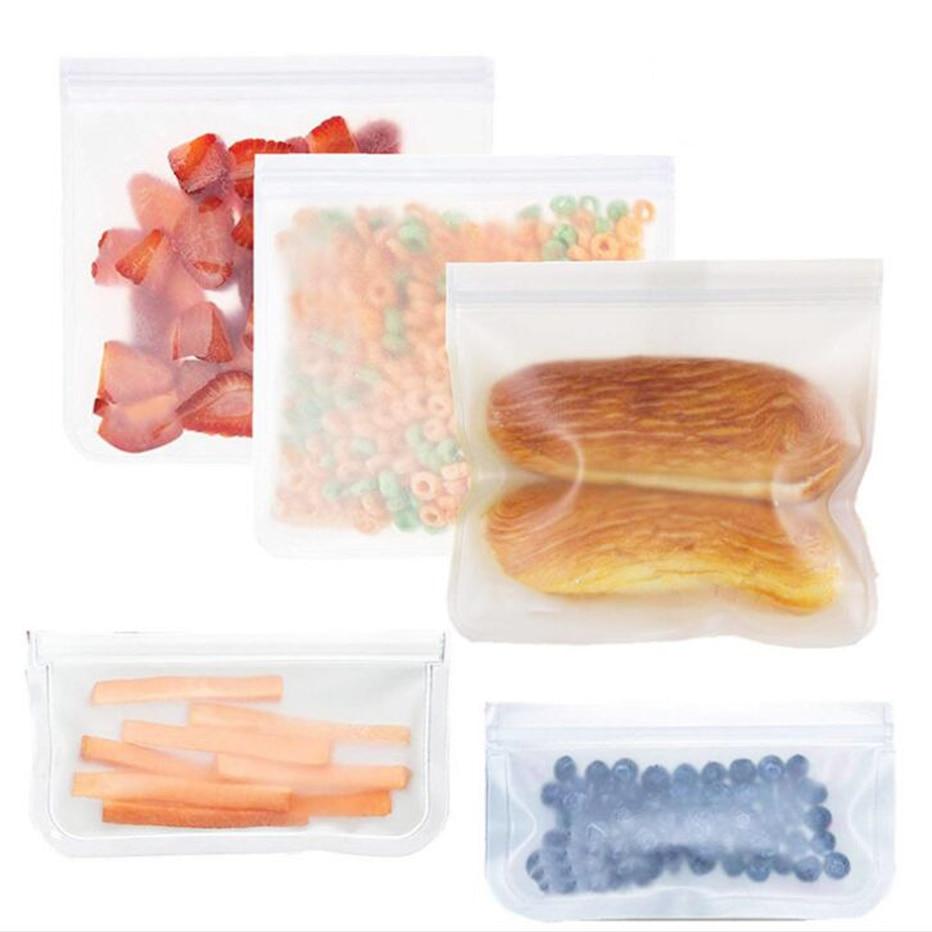 Basedidea Food Storage Bags Reusable Silicone Bag Fruit Meat Milk Food Container Fridge Fresh Keeping Bags