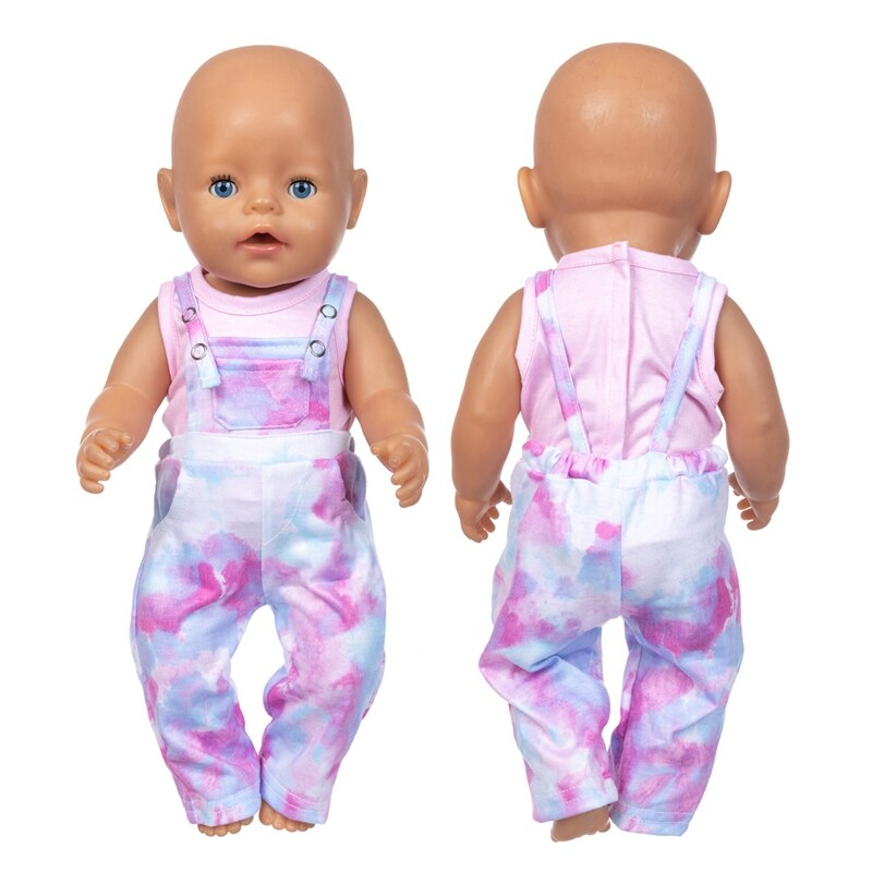 Baby New Born Fit 17 inch 43cm Doll Clothes Accessories Dazzle Colour Suit For Baby Birthday Gift