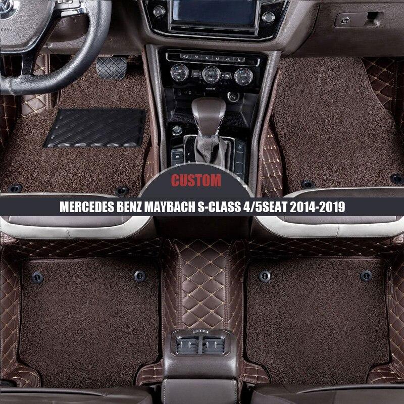메르세데스 벤츠 maybach s-class 4seat 5seat 2014 2015 2016 2017 2018 2019 자동 카펫 카 액세서리 용 맞춤형 카 바닥 매트