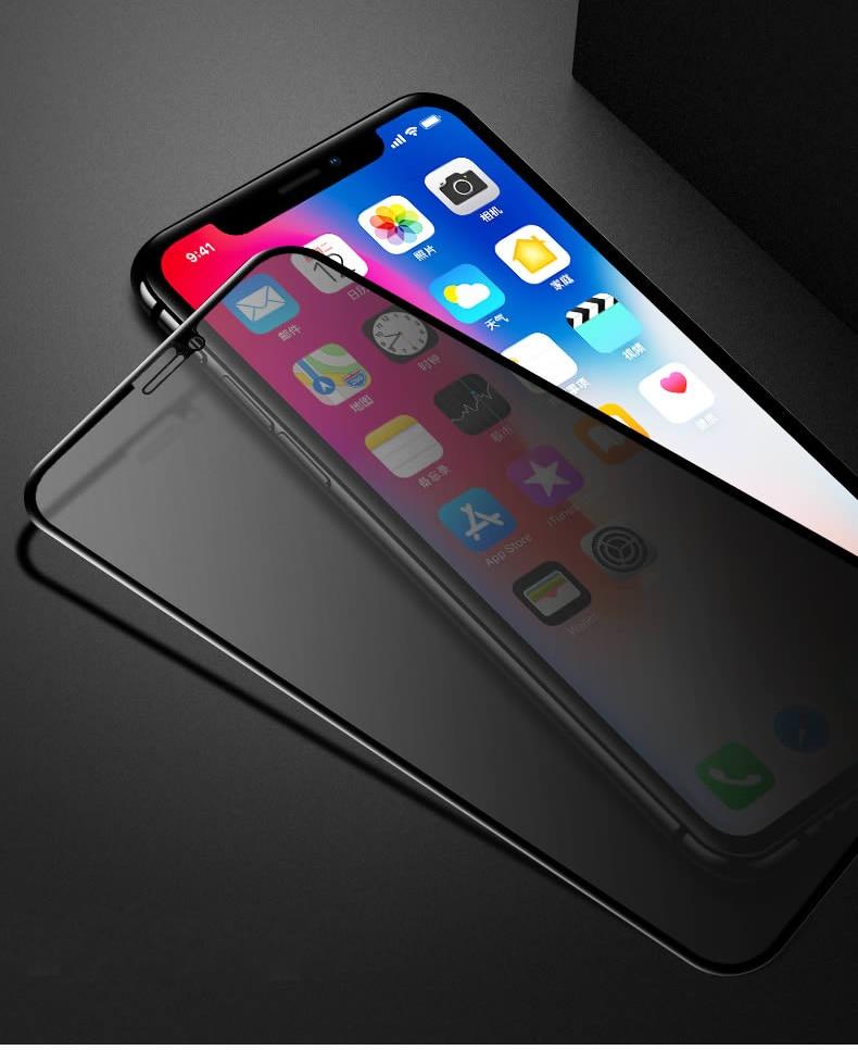 Vidrio Protector de alta definición para iPhone 7 X XR XS Max Privacy Anti Spy Protector de pantalla para iPhone 7 8 6 6S Plus