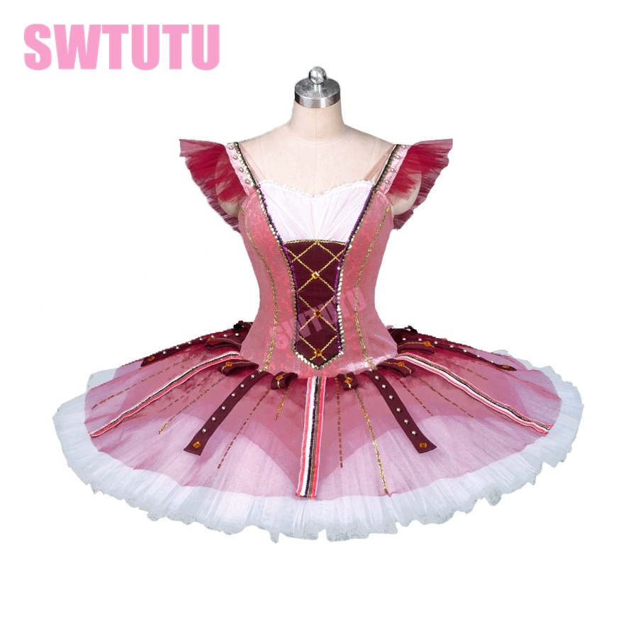 Tutú de ballet profesional rojo Don Quijote tutú para niños tutú del Cascanueces tutú panqueque BT9123