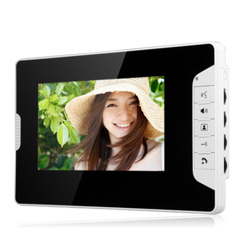 7 Inch Video Door Phone Doorbell Intercom Kit 1-camera 2-monitor Night Vision with 700TVL Camera enlarge