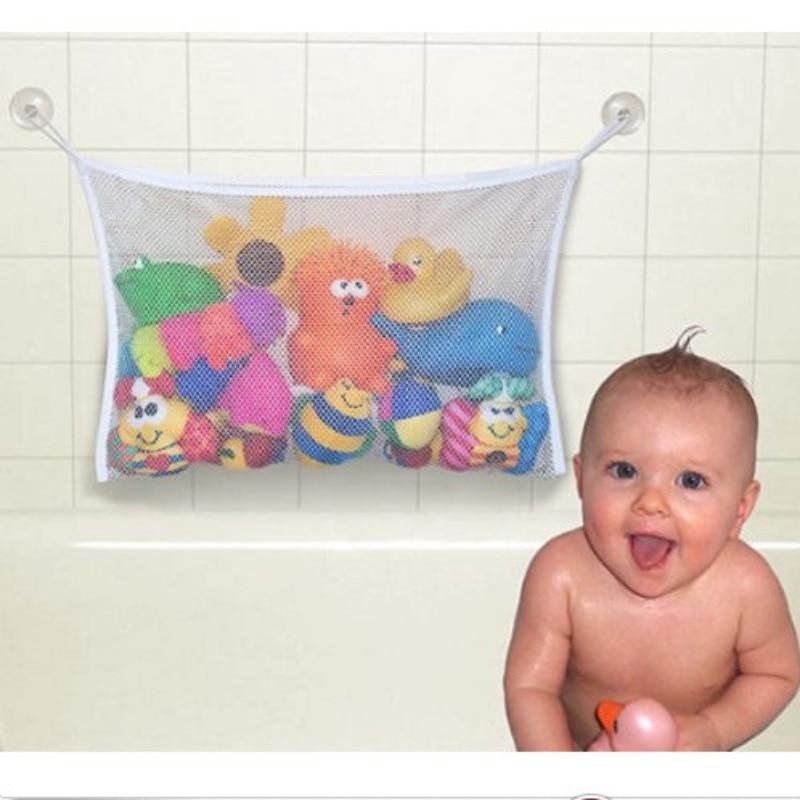 Cuarto de baño bolsa de almacenamiento de juguetes juguete del bebé bolsa de malla de baño de la muñeca organizador de bolsa colgante baño juguete neto para los niños