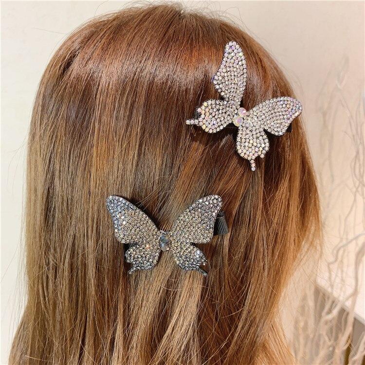 Cristal de lazos de cabello con pinzas para el cabello para niñas niños Boutique capas Bling Centro de diamantes de imitación arcos horquillas accesorios para el cabello