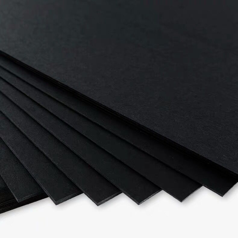 Высококачественная Новая Черная крафт-бумага A4 80-230 г/м2 для самостоятельного изготовления открыток, крафт-бумага, толстая бумага, картон