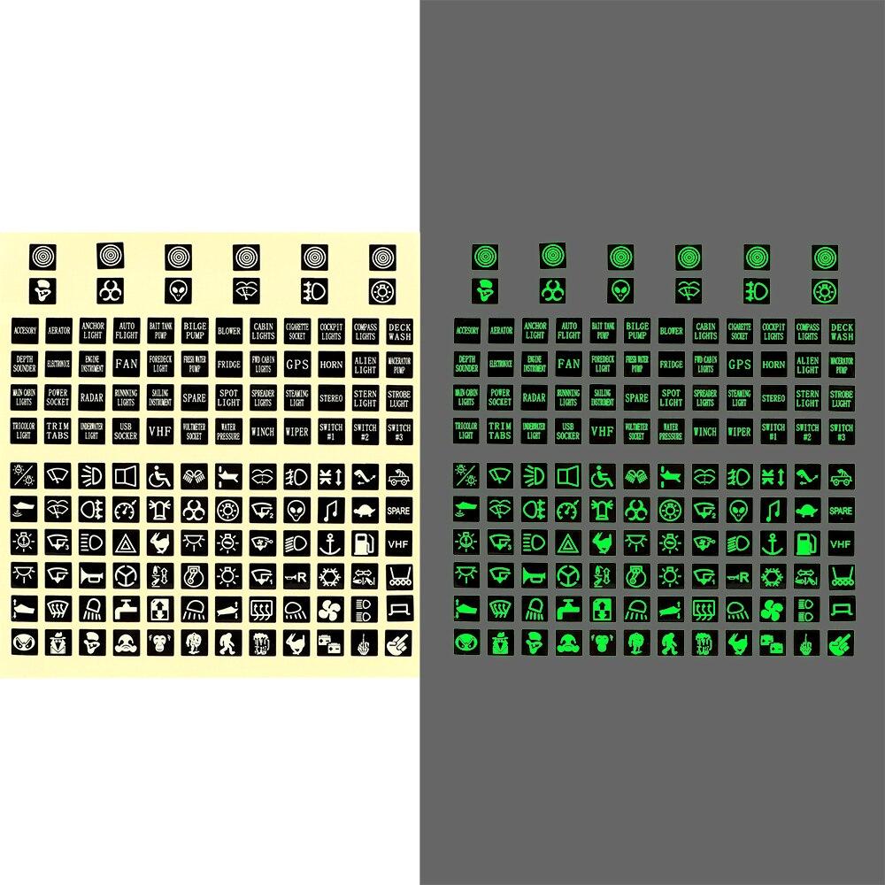 LEEPEE клавишная метка переключателя реле украшение монтажная панель наклейка для грузовика украшение инструмента ПВХ светящаяся Автомобильная наклейка