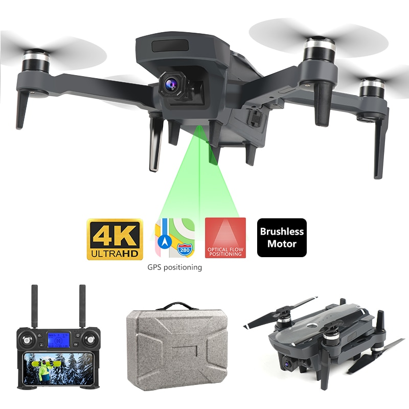 Mejor Venta caliente de 4K HD GPS Me sigue drone WiFi FPV Quadcopter motor sin escobillas CES Cámara FPV Cámara volar a 1800 metros